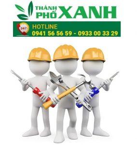 Phòng Kỹ thuật và bảo trì sản phẩm nhà vệ sinh di động Công ty Thành Phố Xanh