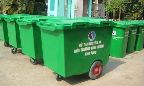 Xe thu gom rác composite 660 lít